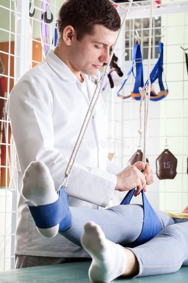 Реабилитация ноги стоковые изображения rf