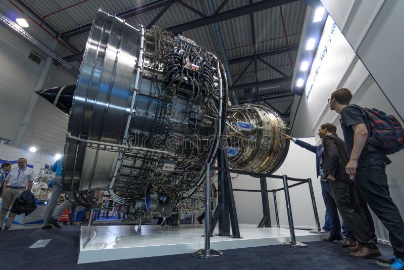 Реактивные двигатели Rolls Royce Trent XWB турбовентилятора стоковые фото