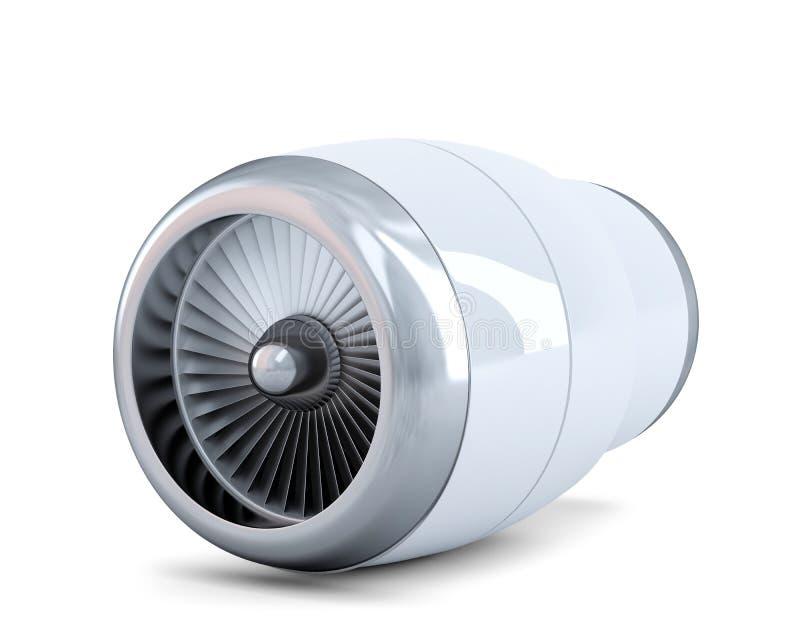 Реактивный двигатель Содержит путь клиппирования иллюстрация штока