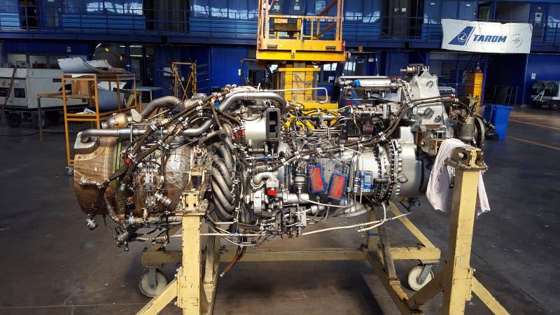 Реактивный двигатель ATR 72 стоковая фотография rf