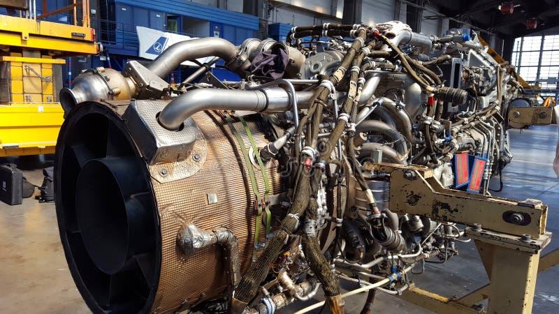 Реактивный двигатель ATR 72 стоковое изображение rf