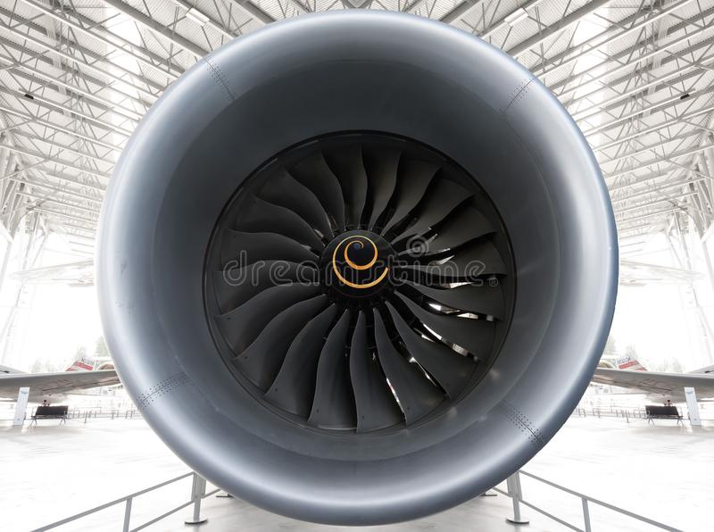 Реактивный двигатель вентилятора Turbo стоковая фотография rf