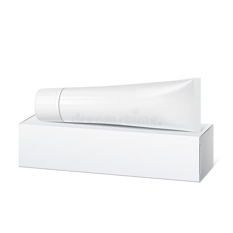 Реалистическая белая пробка и упаковывать. иллюстрация вектора
