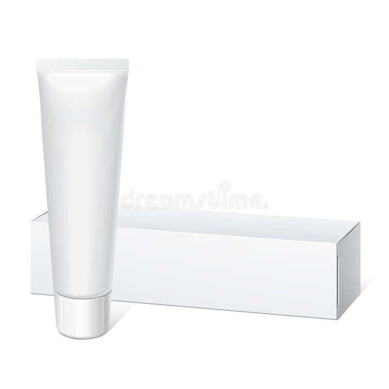 Реалистическая белая пробка и упаковывать. бесплатная иллюстрация