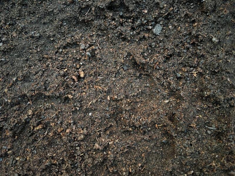 Реалистическая влажная почва после идти дождь предпосылка текстуры взгляда сверху стоковые фото