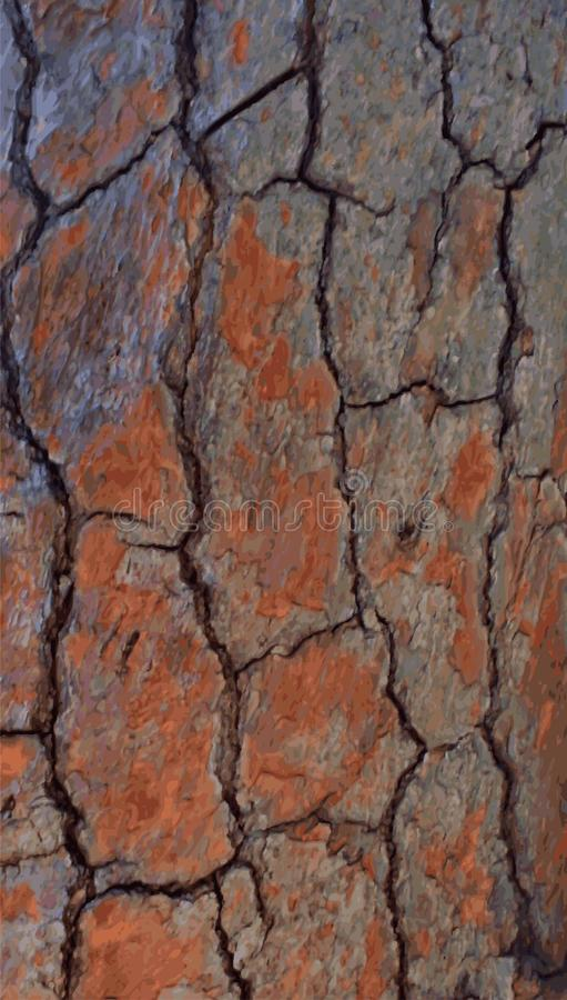 Реалистическая деревянная предпосылка коры дерева r стоковые изображения rf