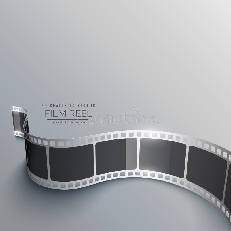 Реалистическая предпосылка прокладки фильма 3d в перспективе иллюстрация вектора