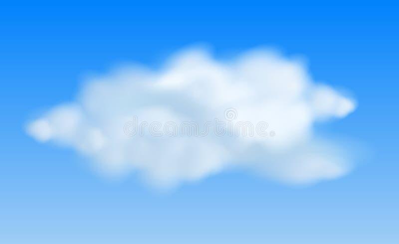 Реалистические облака в голубом небе бесплатная иллюстрация