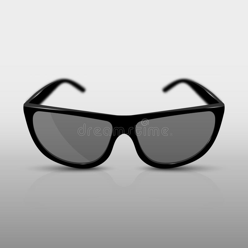 Реалистические солнечные очки, или стекла 3D для кино С тенью, отражением и фокусируя влиянием бесплатная иллюстрация