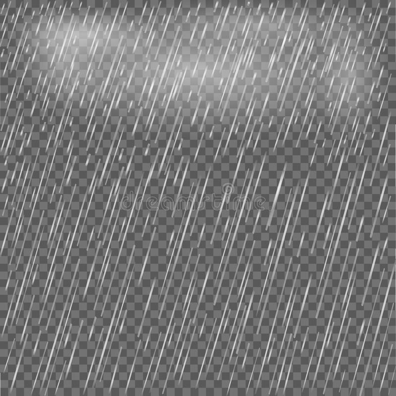 Реалистический дождь Чисто, падения чистой воды ДОЖДЬ ВОДЫ также вектор иллюстрации притяжки corel иллюстрация вектора