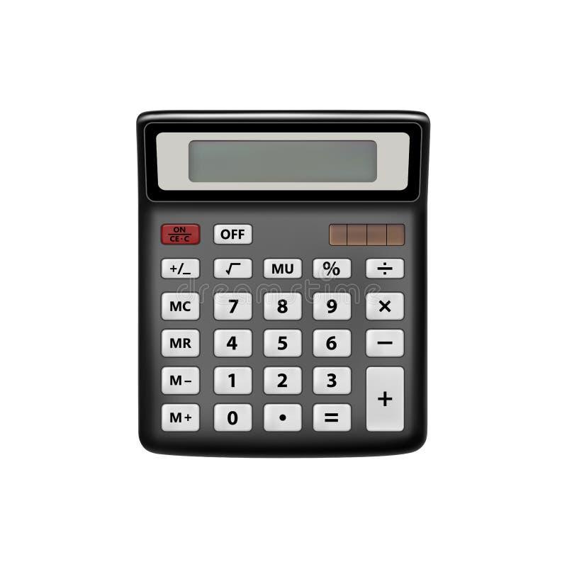 Реалистический калькулятор изолированный на белой предпосылке Калькулятор в векторе Иллюстрация вектора калькулятора бесплатная иллюстрация