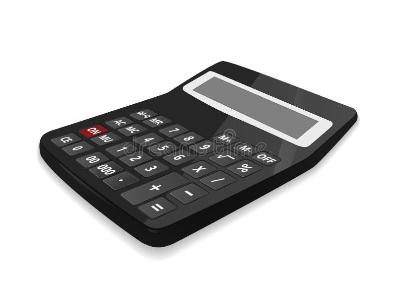 Реалистический калькулятор, изолированный на белой предпосылке иллюстрация вектора