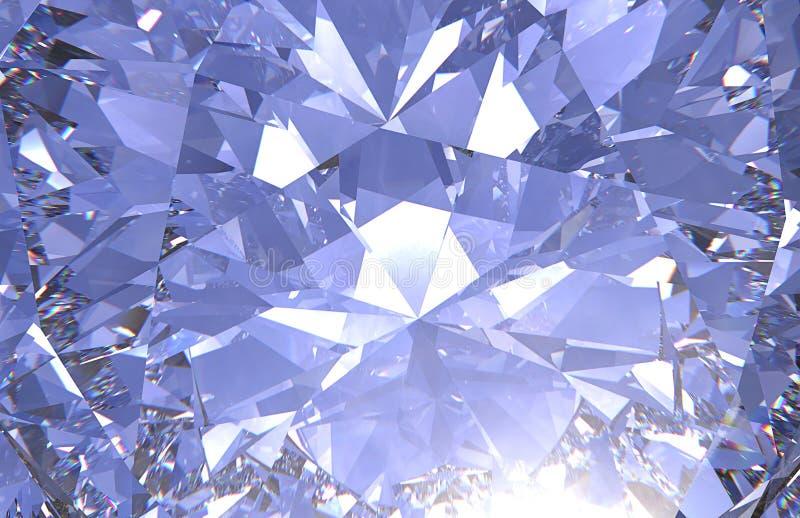 Реалистический конец текстуры диаманта вверх, 3D представляет иллюстрация штока