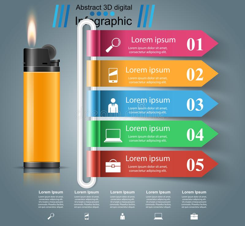 Реалистический лихтер - дело infographic и значок маркетинга бесплатная иллюстрация