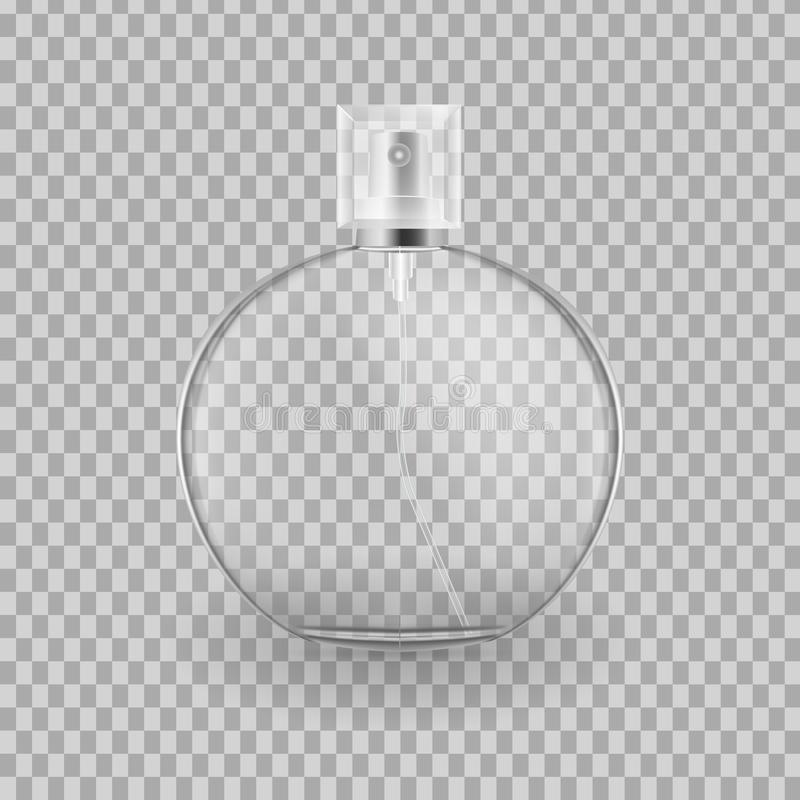 Реалистический модель-макет, шаблон брызга flacon для свежести бесплатная иллюстрация