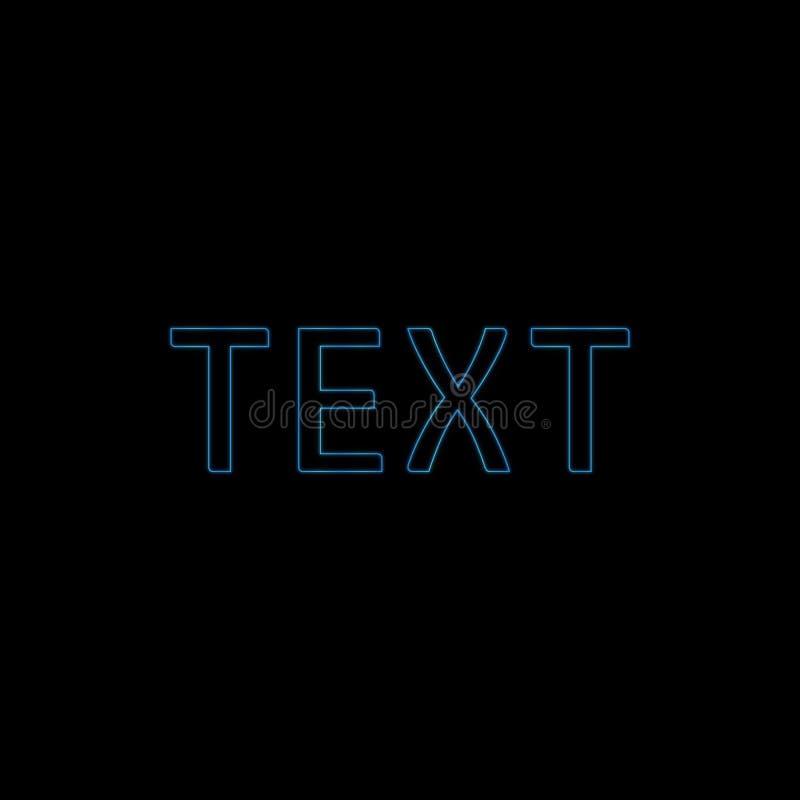 Реалистический неоновый алфавит Накаляя шрифт E иллюстрация вектора