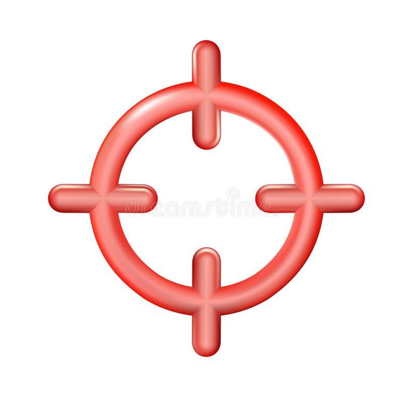 Реалистический пластиковый значок цели игрушки в ультрамодном стиле 3d изолированный на белой предпосылке Символ для вашего веб-д бесплатная иллюстрация