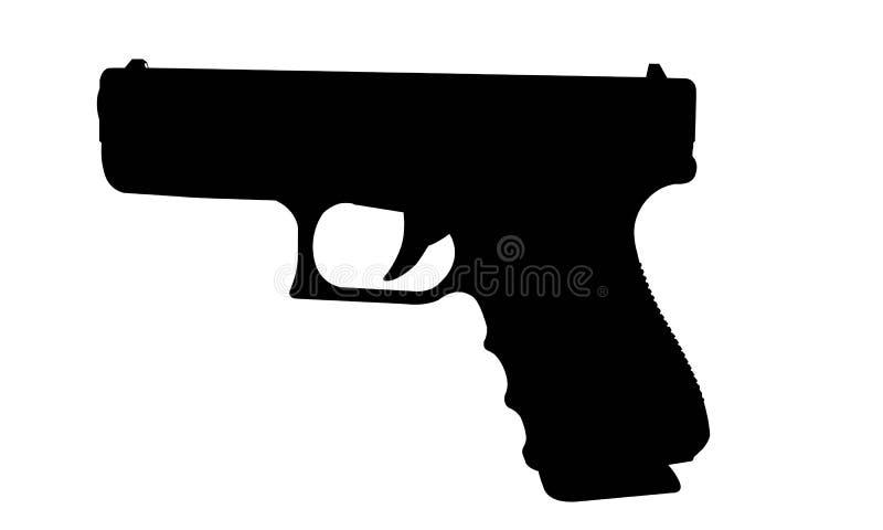 Реалистический силуэт вектора оружия при стог изолированный на белизне стоковые фото