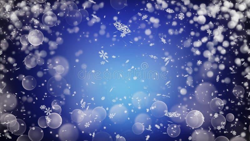 Реалистический снег абстрактная зима предпосылки бесплатная иллюстрация