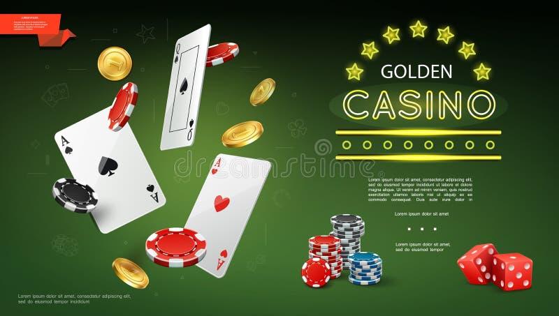 Реалистический состав казино бесплатная иллюстрация