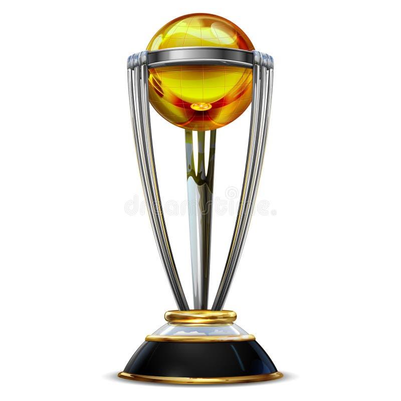 Реалистический трофей золотой чашки для игры турнира спорта сверчка на простой предпосылке бесплатная иллюстрация