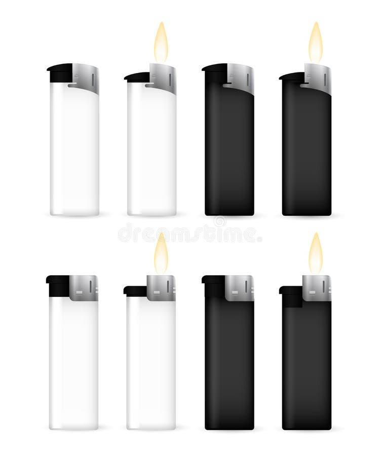 Реалистическое черно-белое с более светлым концом пламени бесплатная иллюстрация