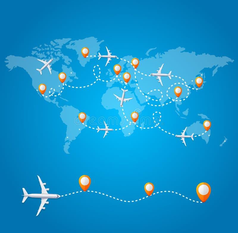 Реалистичная 3d-детальная карта World Wide Travel Concept Card Вектор бесплатная иллюстрация