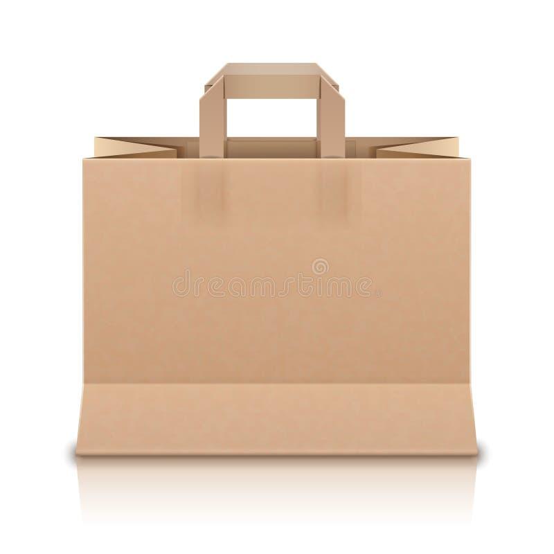 Download Реалистическая бежевая бумажная хозяйственная сумка. Вектор Illustr Иллюстрация вектора - иллюстрации насчитывающей backhoe, подарок: 33725831