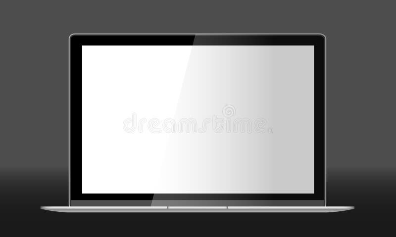 Реалистическая иллюстрация вектора компьтер-книжки стоковое изображение