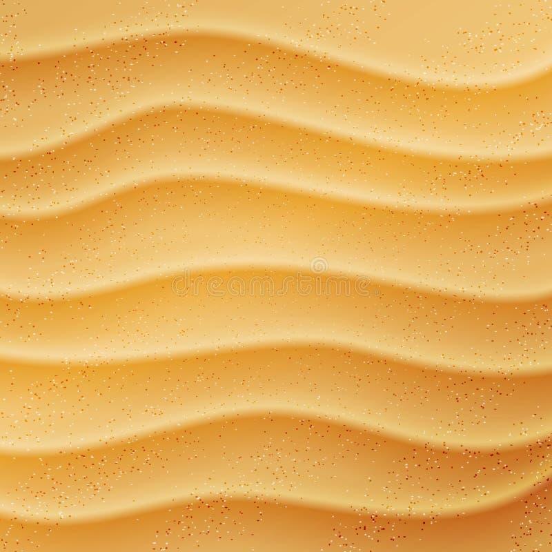 Реалистическая предпосылка песка пляжа иллюстрация штока