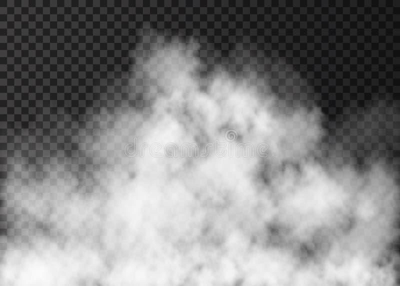 Реалистическая текстура вектора дыма или тумана огня иллюстрация вектора