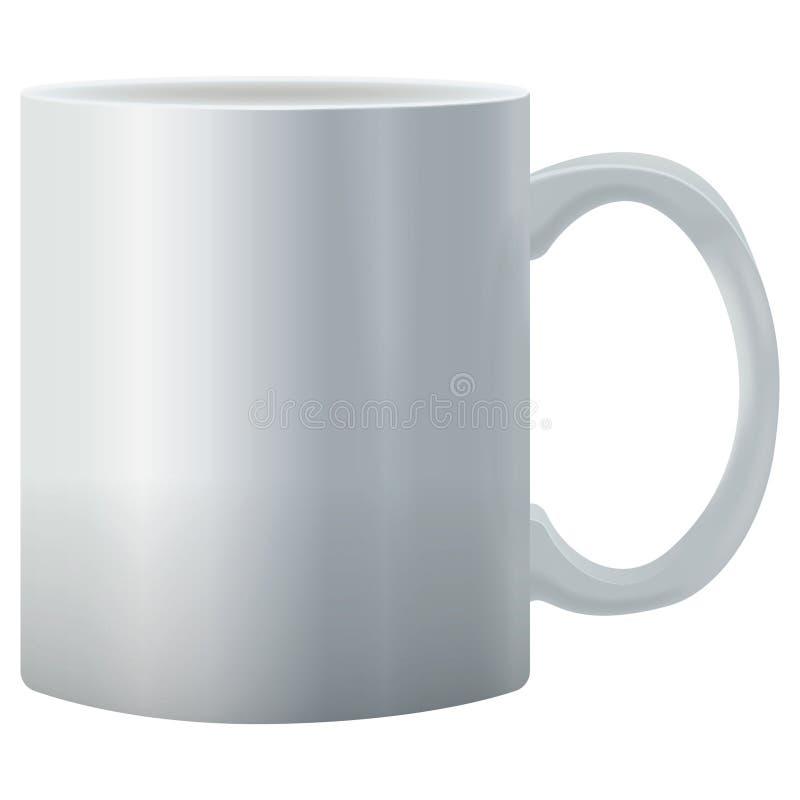 Реалистическая чашка белизны вектора стоковое фото rf