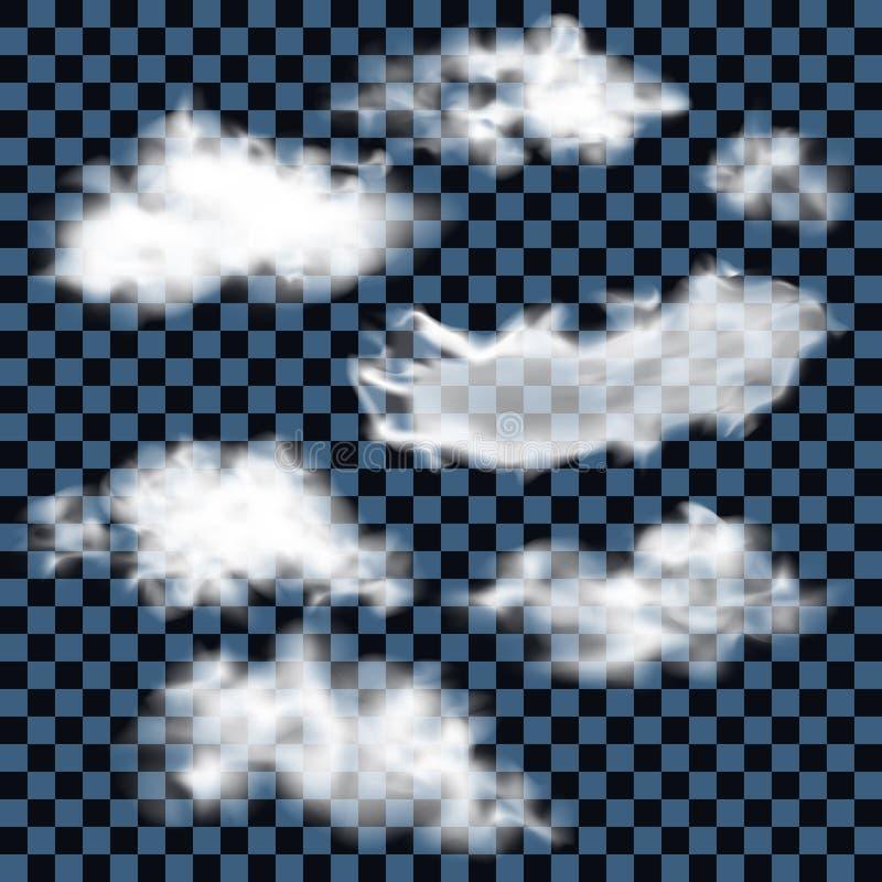 Реалистические пушистые облака иллюстрация вектора