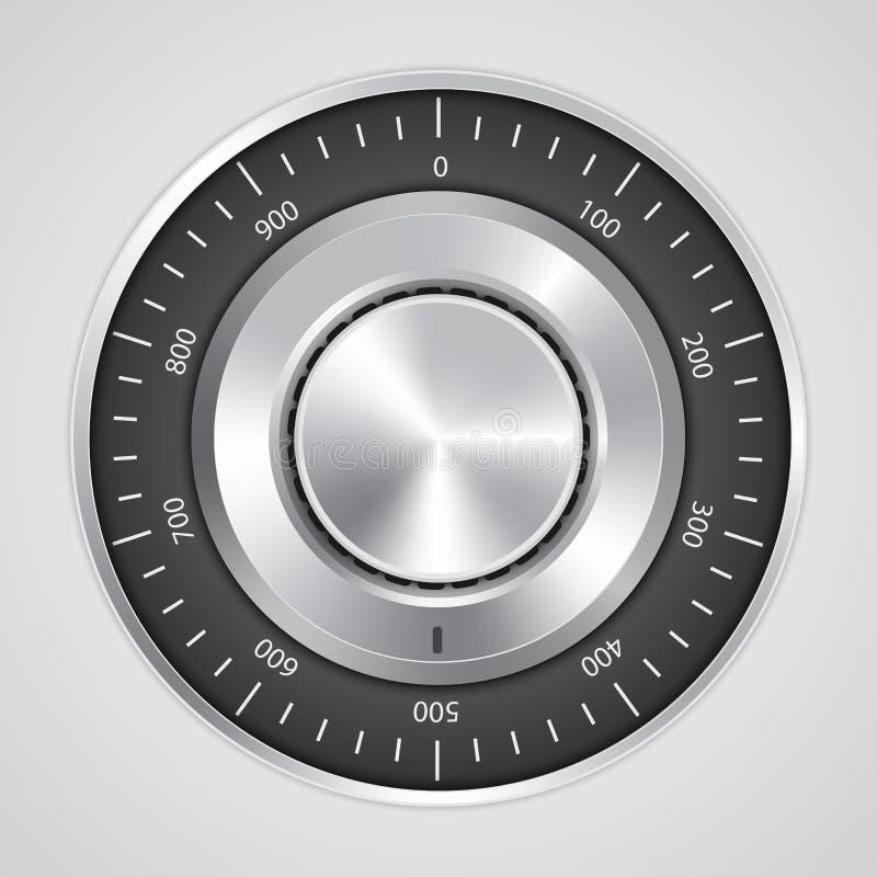 реалистический замок сейфа комбинации 3d иллюстрация штока