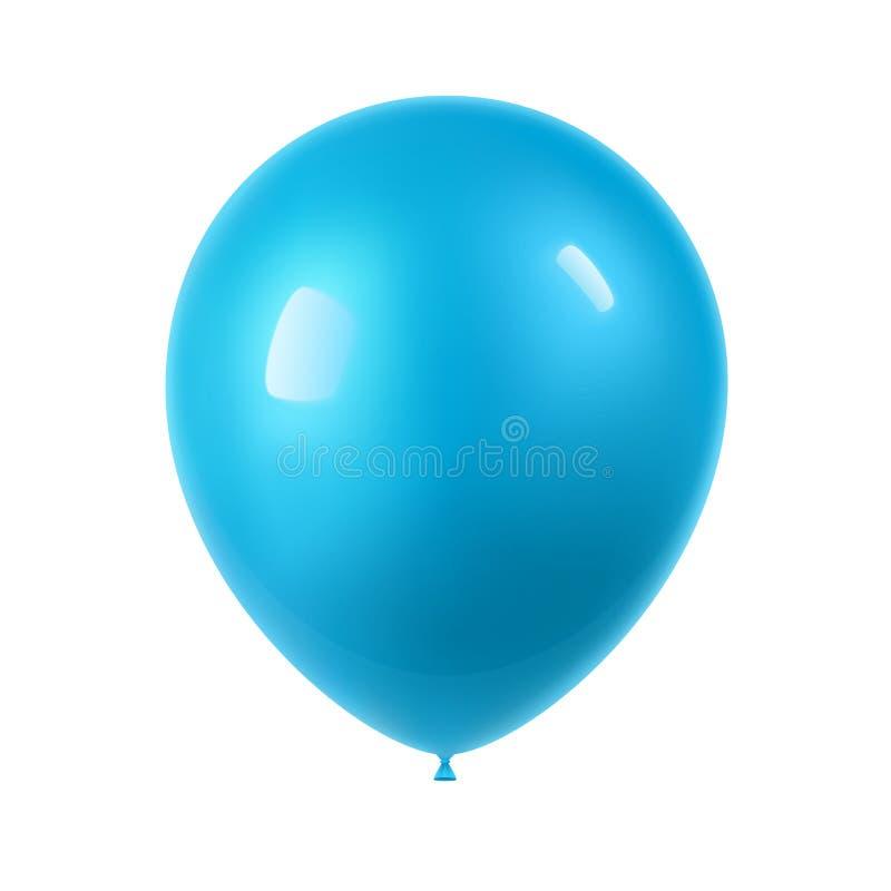 реалистический красочный воздушный шар 3d иллюстрация вектора