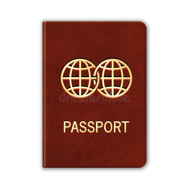 Реалистический пасспорт.  На белизне иллюстрация вектора