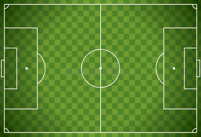 Реалистический футбол - иллюстрация футбольного поля иллюстрация штока