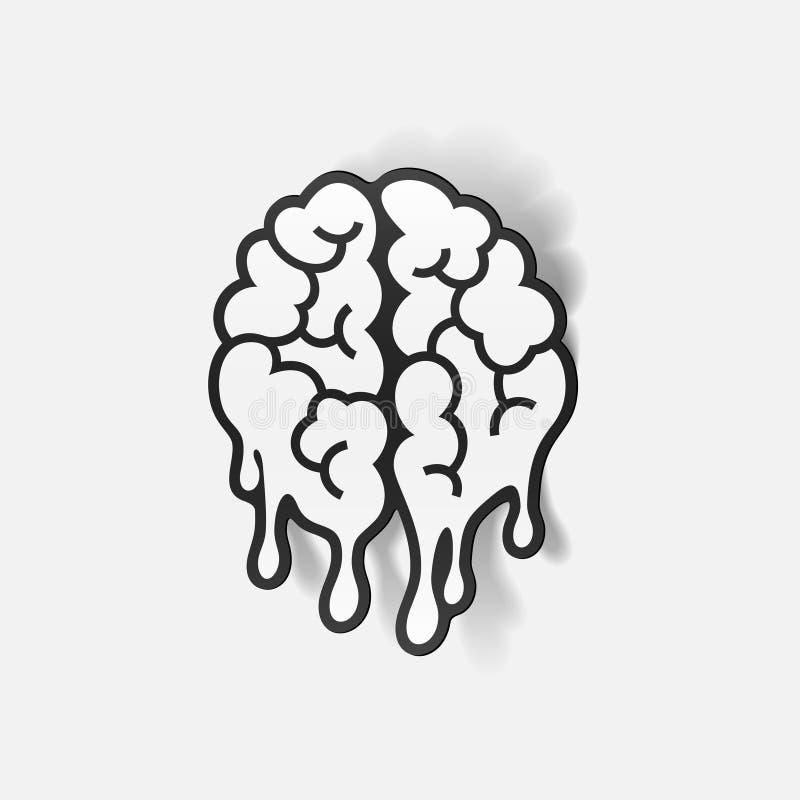 Реалистический элемент дизайна: падение мозга бесплатная иллюстрация