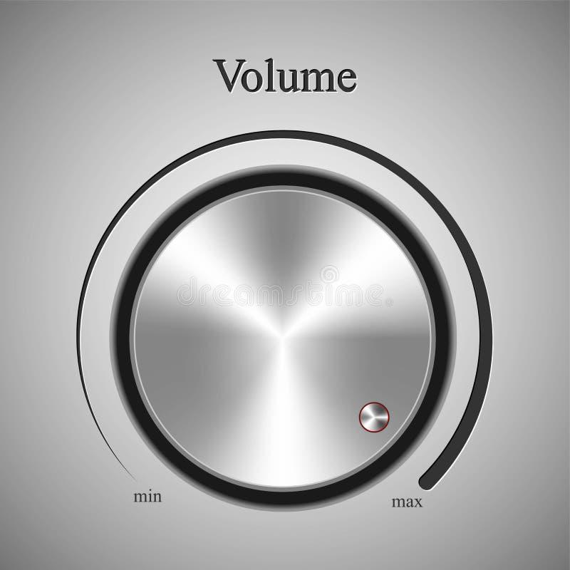 Реалистическое управление том музыки бесплатная иллюстрация