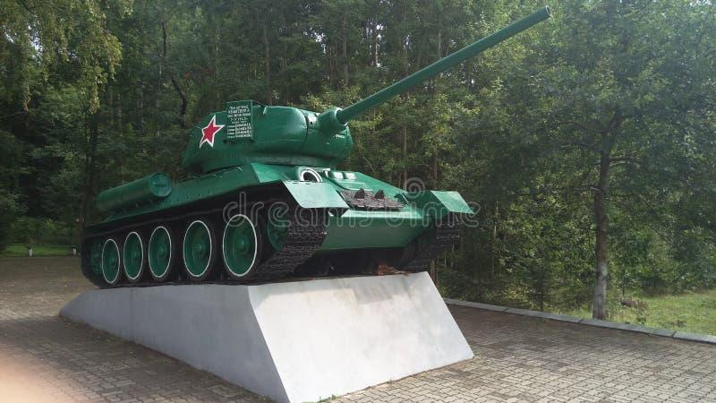 Реальный памятник танка стоковые фото