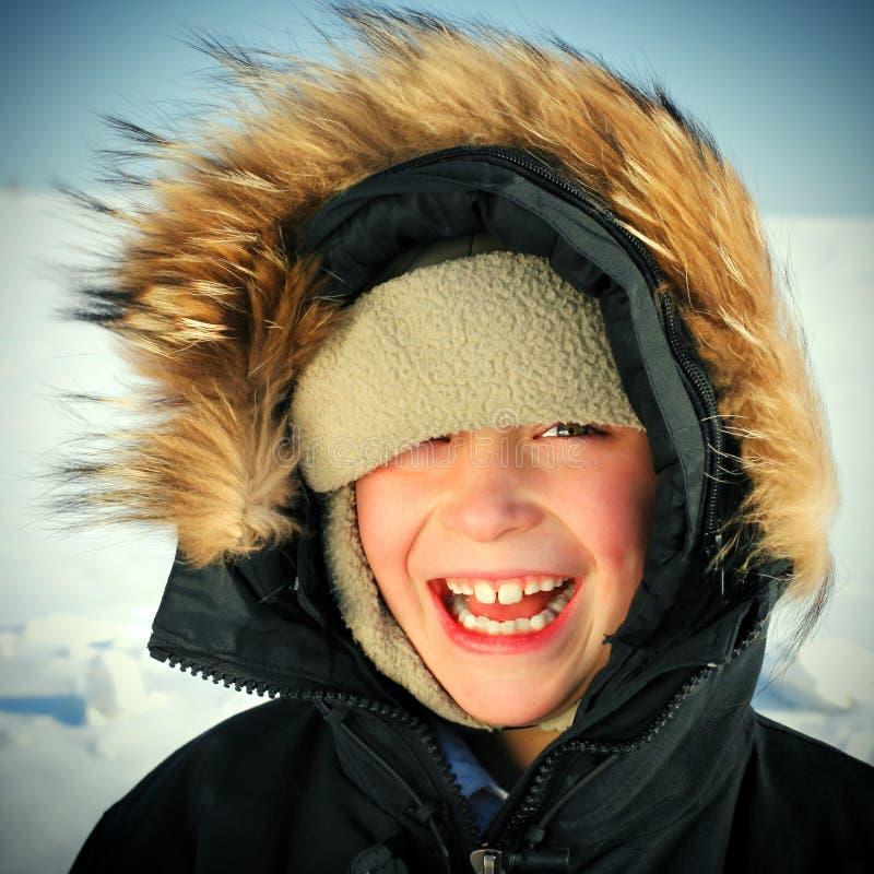 Ребенк в зиме стоковое изображение rf