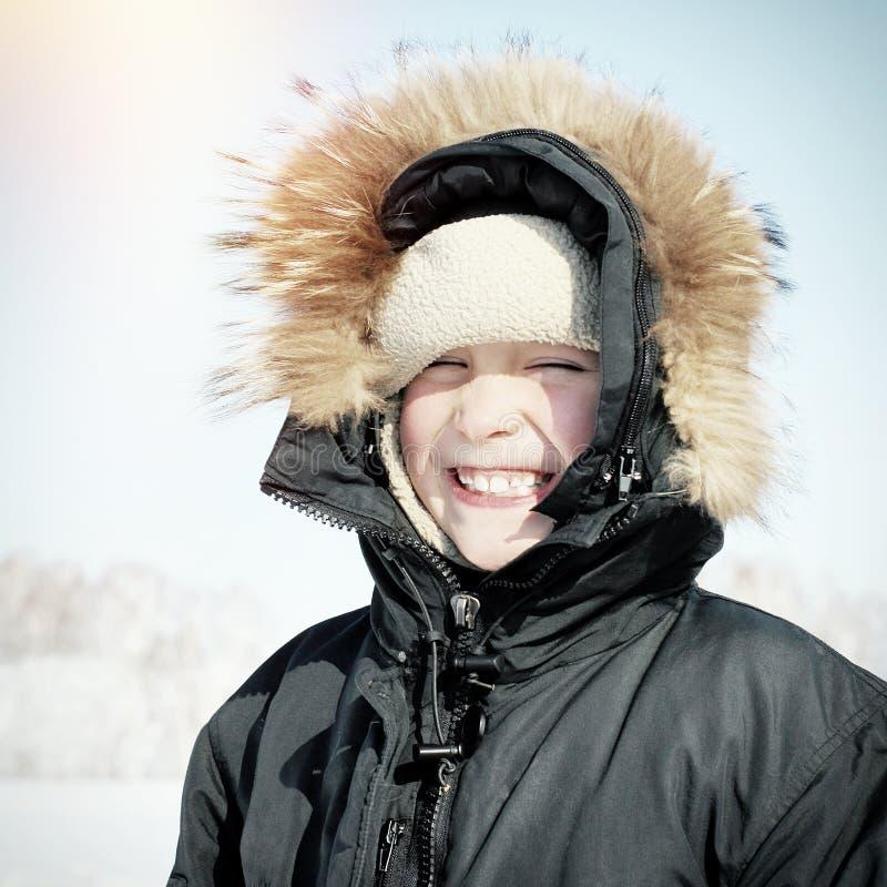 Ребенк в зиме стоковые изображения rf