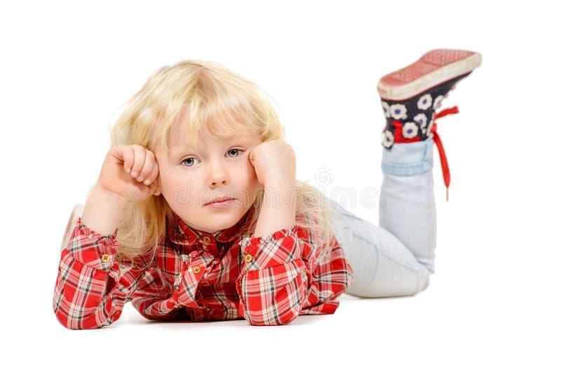 Ребенк на поле стоковая фотография