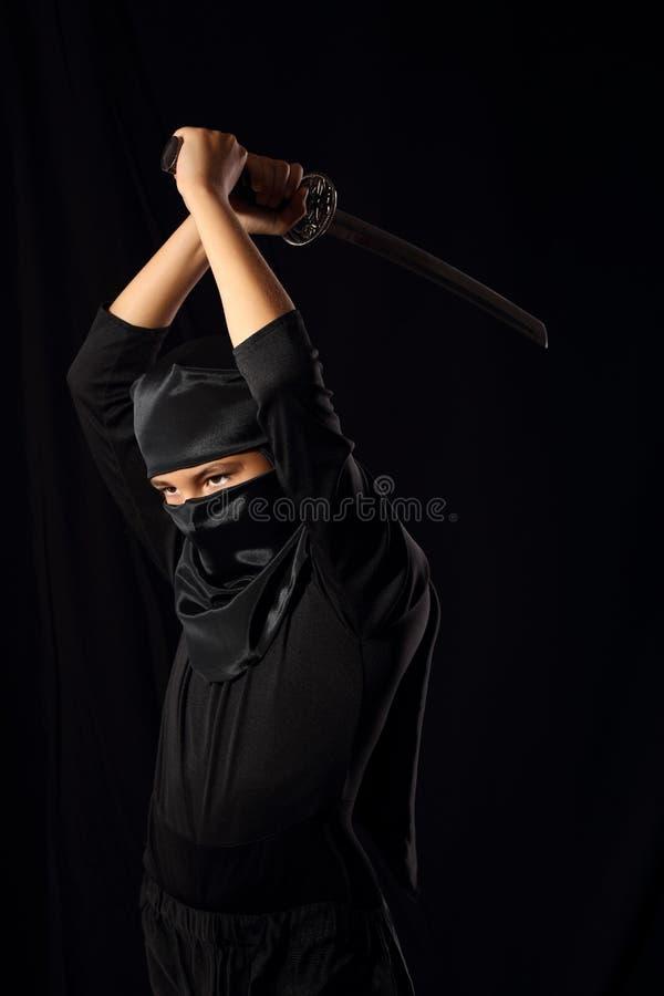 Ребенк Ninja стоковые фотографии rf
