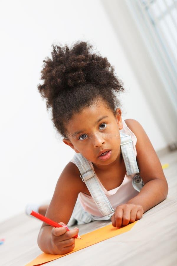 Ребенок африканца Preschool стоковое фото rf