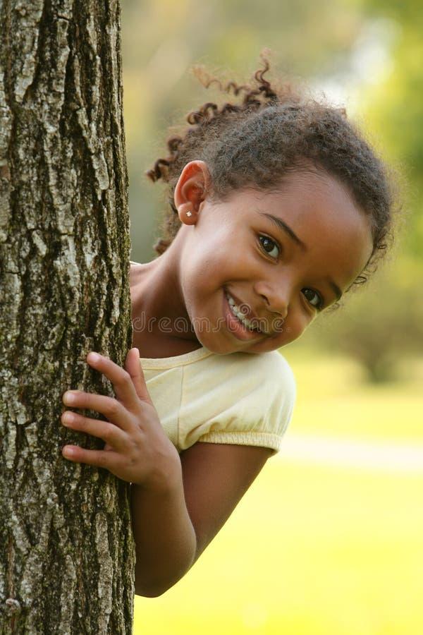 ребенок афроамериканца счастливый стоковые изображения rf