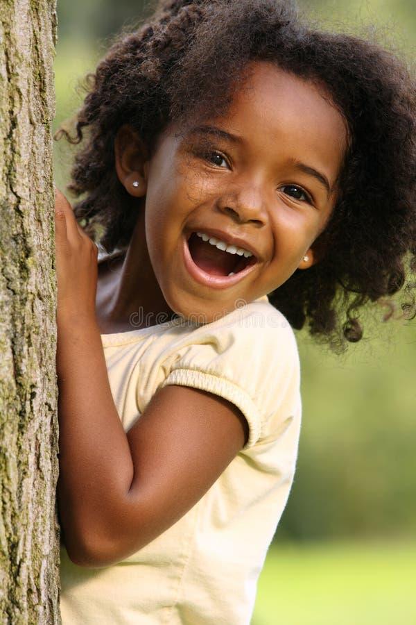 ребенок афроамериканца стоковое фото