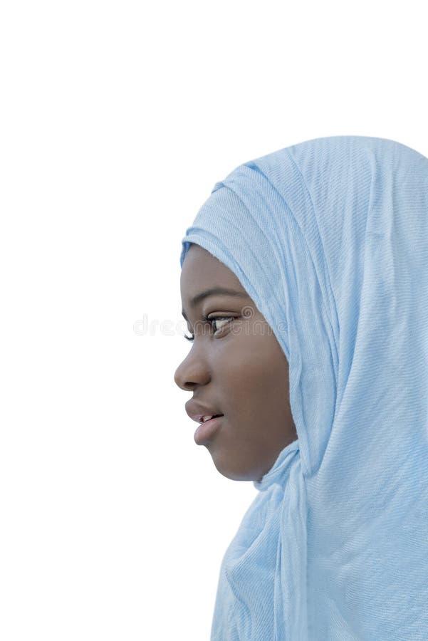 Ребенок Афро одел для религиозного торжества, изолированный стоковое изображение rf