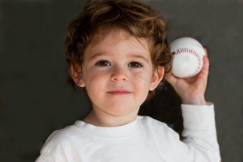 ребенок бейсбола Стоковые Изображения RF