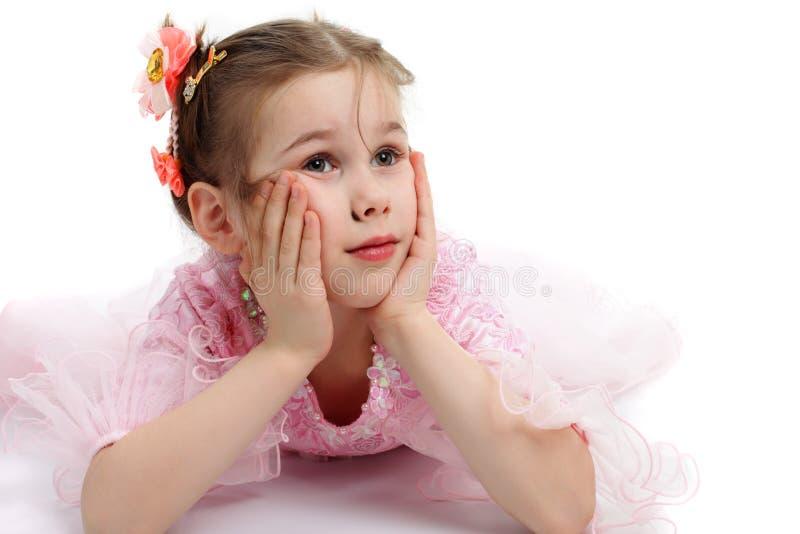 ребенок задумчивый стоковое изображение rf